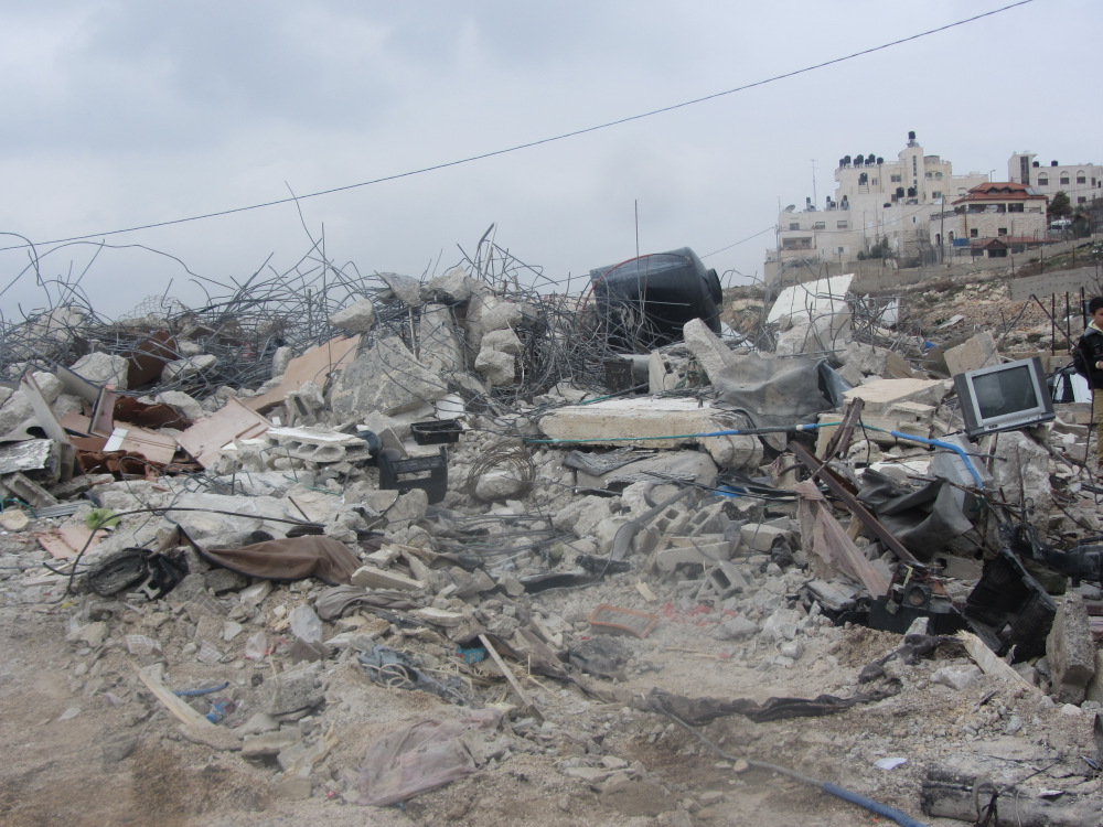 Beit Hanina demolition for the families Idriss and Kisswani 3 houses
