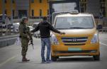 IDF an Straßensperre zu Ramallah