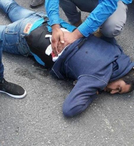 Moussa verletzt am Boden