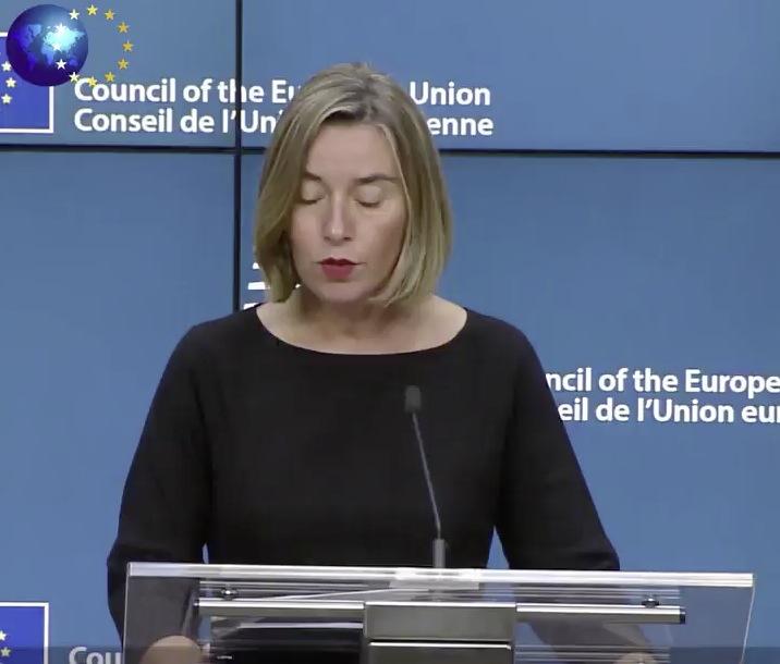 Federica Mogherini Pressekonferenz 05.12.2017