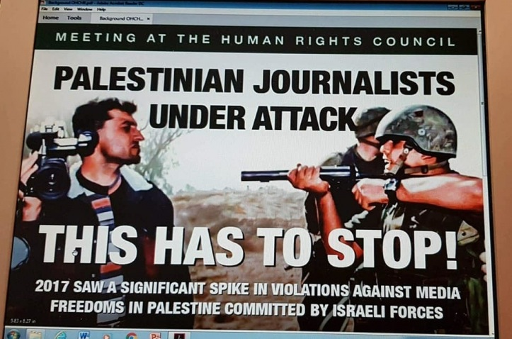 Palestinian journalists under Israel attack