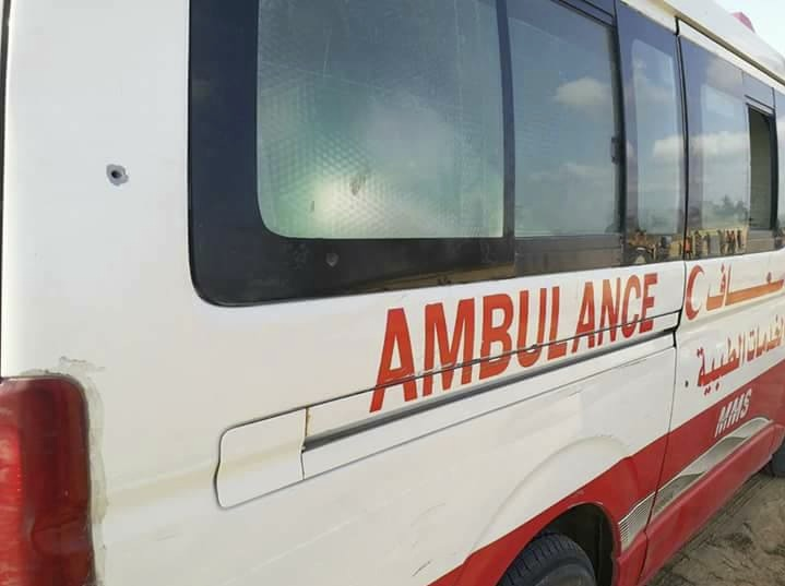 Ambulance shot with live bullets 02