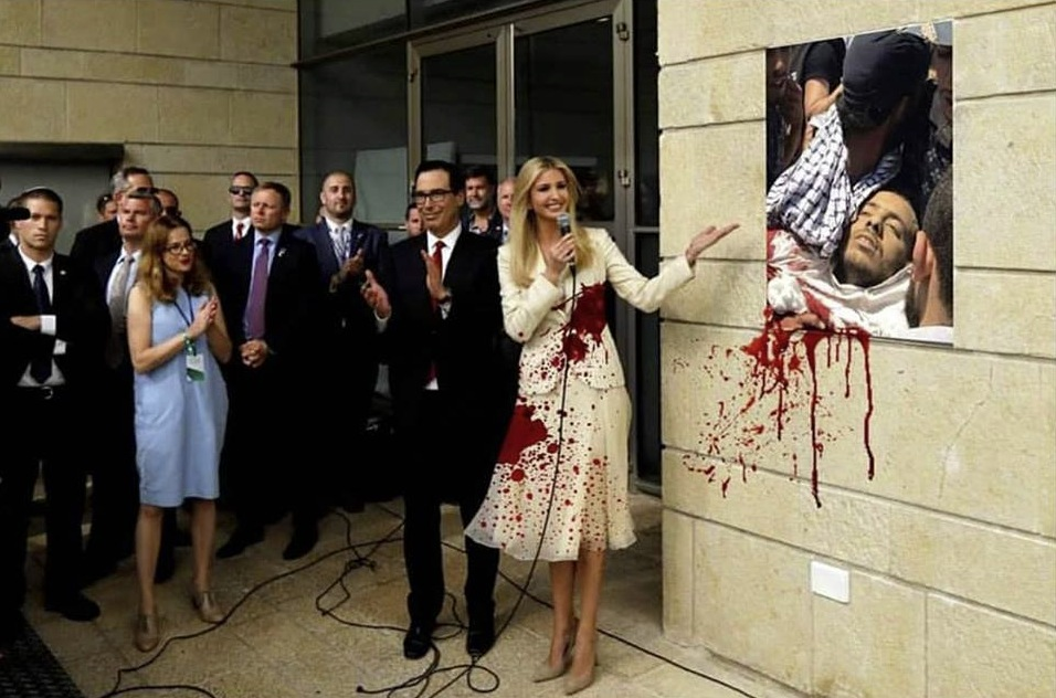 Outcome of US embassy move - photo criticism of bloody Ivanka Trump
