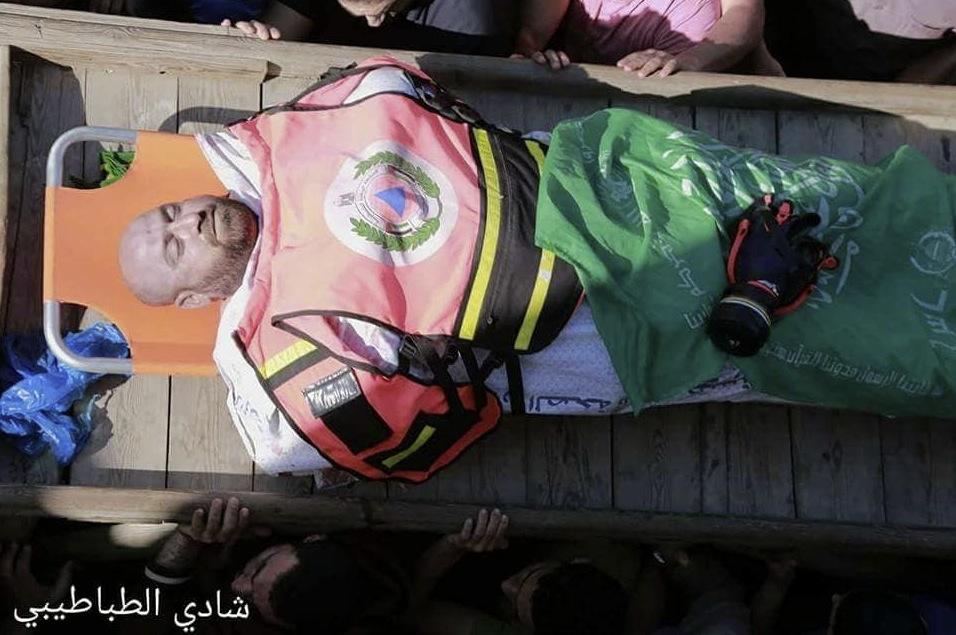 Paramedic Mousa Jabr Abu Hussein killed - funeral