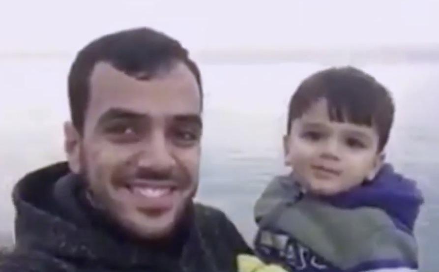 Yaser mit Sohn
