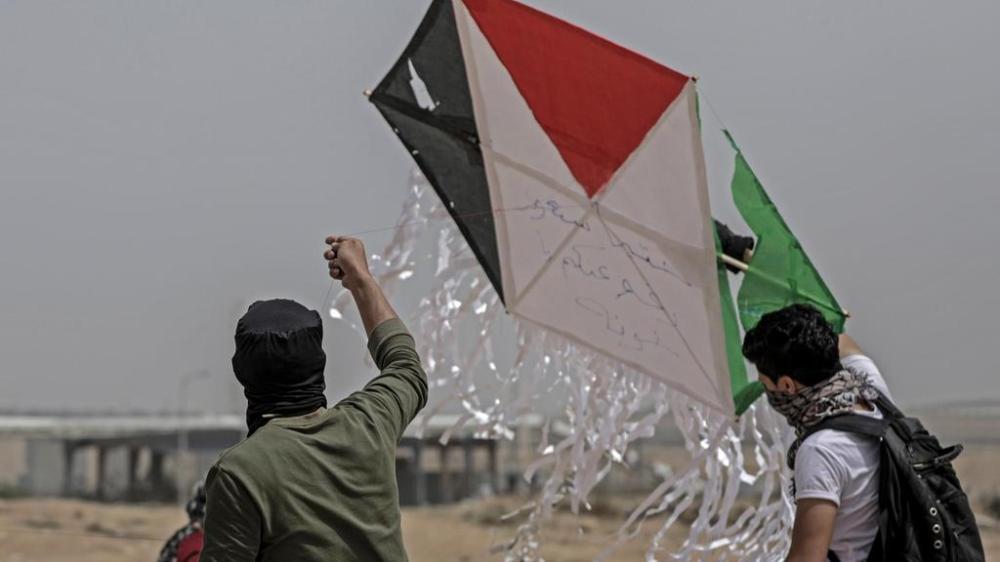Drachen mit Palästinafahne