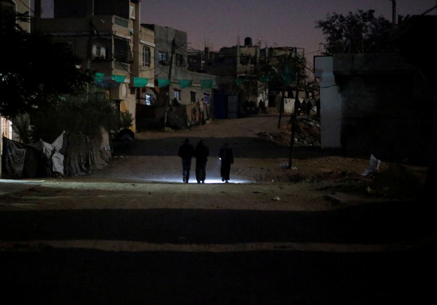 Gaza walking in the dark