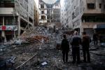 Gaza multi-story building hit by IDF airattack WAFA