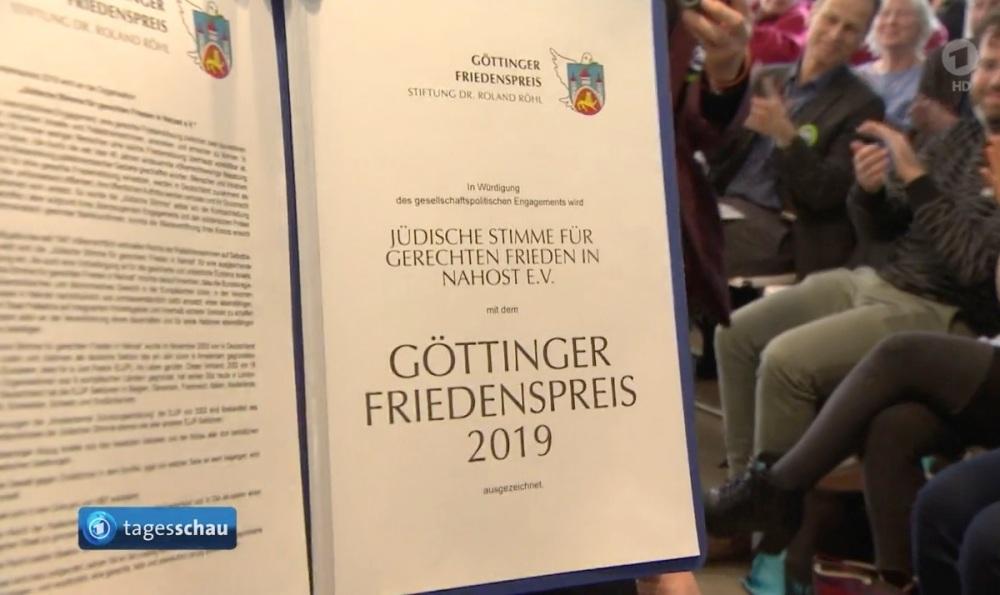 Göttinger Friedenspreis 2019 Dokument