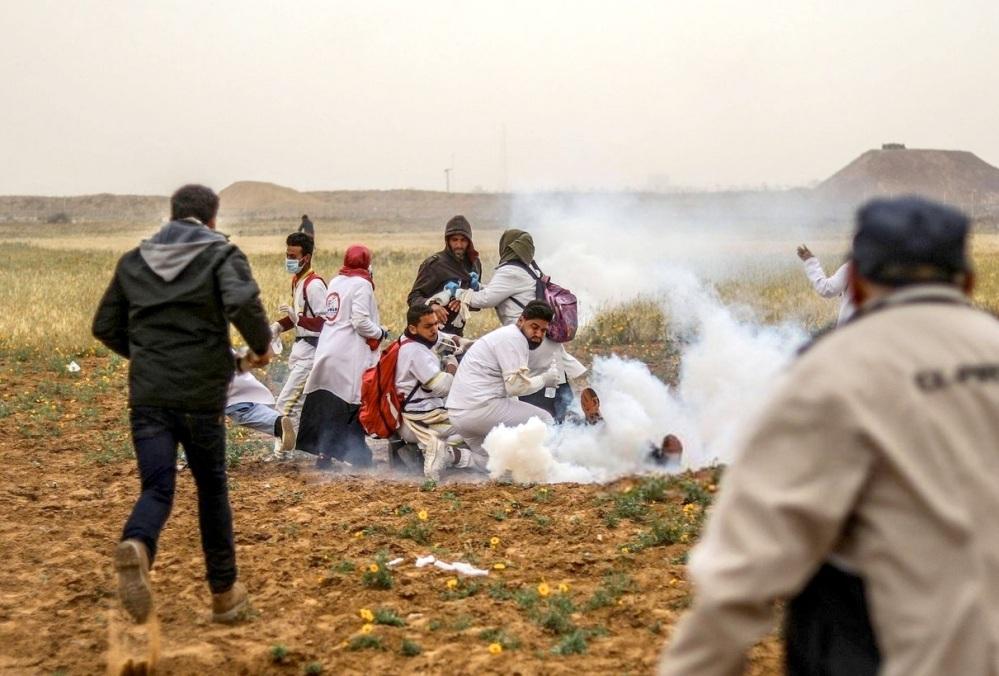 Angriff auf Sanitäter während der Versorgung Verletzter quds